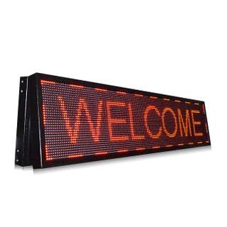 Popular P10 Outdoor Single Red Programmable Led Sign