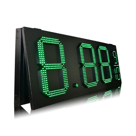 Top Quality Outdoor IP53 Green 15'' 8.88 9/10 Gas Station Led Sign
