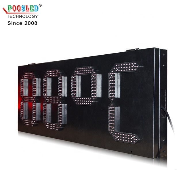 Special Style Ip65 Outdoor 12 Inch 7 Segment Red Led Temperature Sign