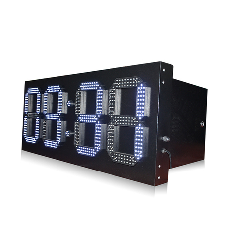 Top Quality Waterproof 12 Inch 7 Segment Single White 88:88 Led Wall Clock