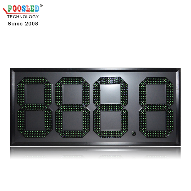 Professional Wholesale 15'' Waterproof Green 888.8 Led Gas Price Sign