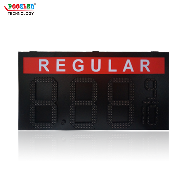 Popular Single Red Outdoor 12''+6'' Regular 8.88 9/10 Led Gas Price Sign
