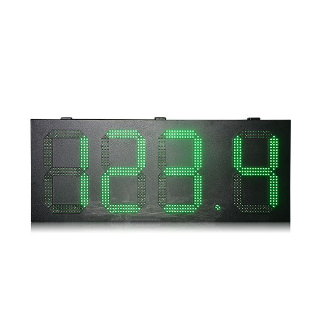 Green color 15 inch gas station price display waterproof digital price led