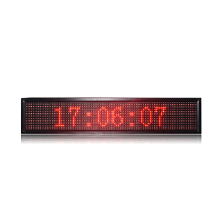 Semi-outdoor P10 Red 3X1 LED Main board LED Message Display USB control