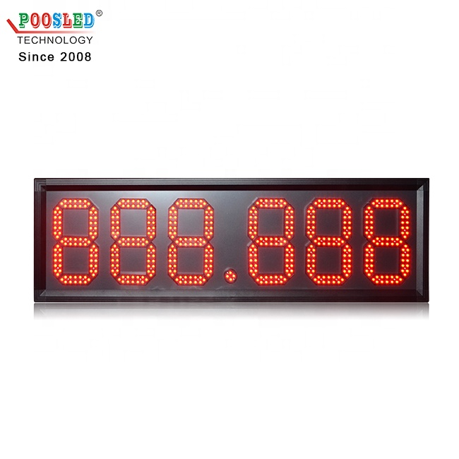 Super Design Wireless Control 8 Inch 888.888 Gas Station Led Price Sign