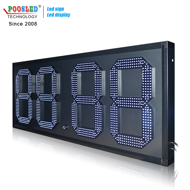 Popular Mexico 18'' Large 7 Segment 88.88 White Led Gas Price Sign