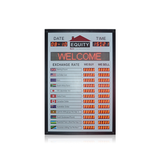 0.8 inch led display board rate exchange exchange rate display board