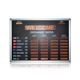 "7 Segment 0.8"" Foreign Exchange Rate Boards for The Bank With Scrolling Sign"