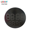 Circle LED Time & Temperature Sign Special Design Iron Cabinet New Type LED Digit with Heat Dam