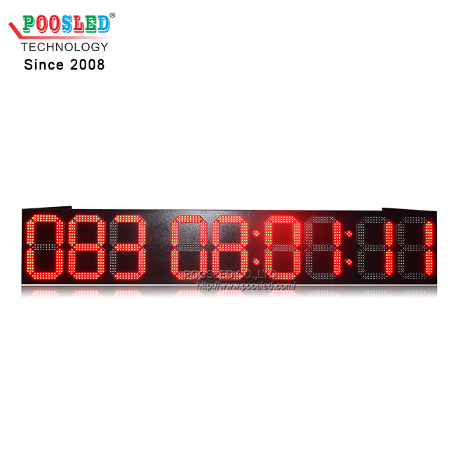 Waterproof 12 Inches Red LED Countdown Timer Display Days And Time