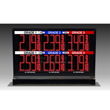 "High Brightness Pump Topper Led Gas Price Sign With 5.0"" Digits"