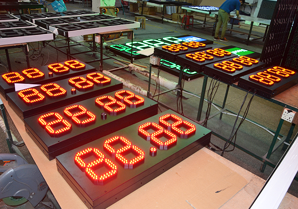 number display sign