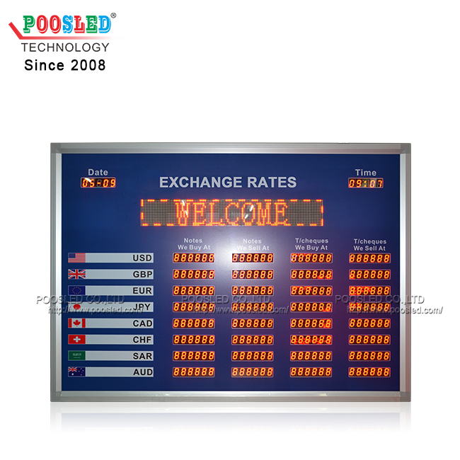 Indoor Using 0.8 Inch Led Nixie Tube Exchange Rates Board with Scrolling Sign