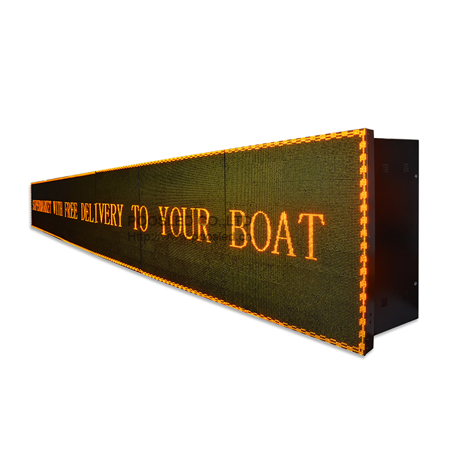 Outdoor Waterproof P10 Yellow 34X9 Led Panel Display