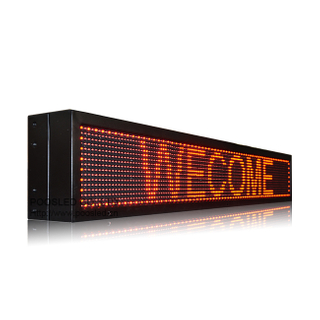 IP65 P10 Red 4x1 Programmable Led Advertising Display