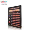 Multifunction Exchange Rate Board Red Nixie Tube Sign with Scrolling Sign Magnetic Label
