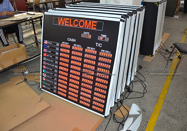 led race clock