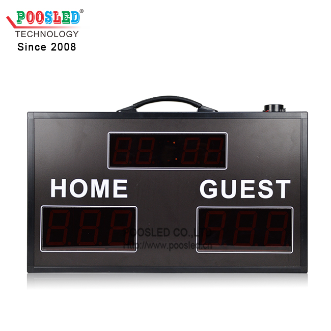 Good Quality Portable 2.3''+3.0'' Red Wireless Control Electronic Soccer Scoreboards