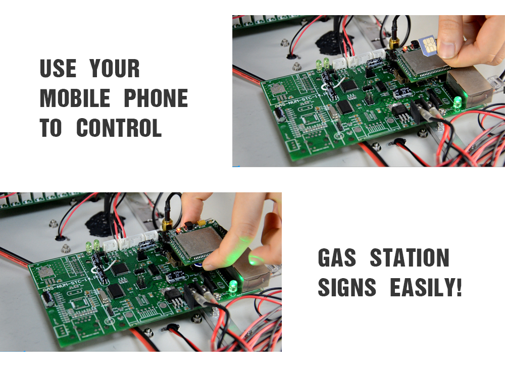 use your mobile phone to control gas signs everywhere