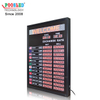 Indoor Using 1 Inche LED Nixie Tube12 Countries Exchange Rate Board with LED Scrolling Sign